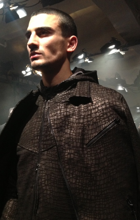 Embossed Leather jacket, guys think about coveting this jacket for Fall