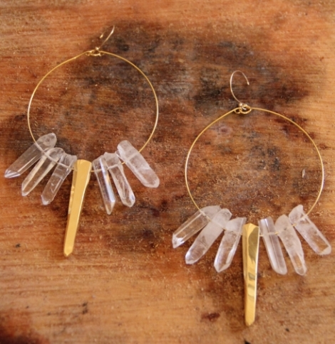 Crystal healing earrings
