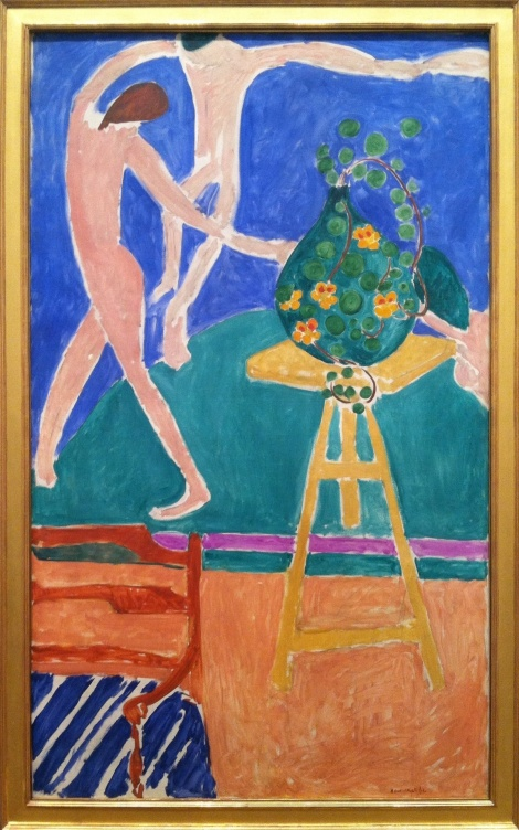 "Henri Matisse (French, 1869–1954) Nasturtiums with the Painting ""Dance"" I, 1912 Oil on canvas; 75 1/2 x 45 3/8 in. (191.8 x 115.3 cm) The Metropolitan Museum of Art, New York, Bequest of Scofield Thayer, 1982"